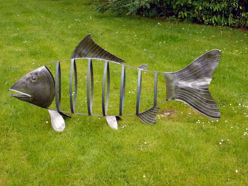 Metal Fish Yard Art Yard Swimmers Metal Sculpture Metal Art Steel Art
