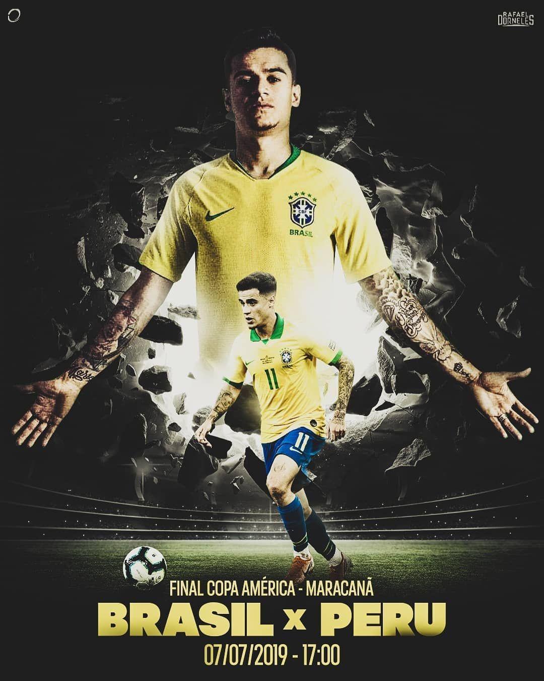Seleção Brasileira Phillippe Coutinho Cartaz De Futebol Marketing Esportivo Esportes