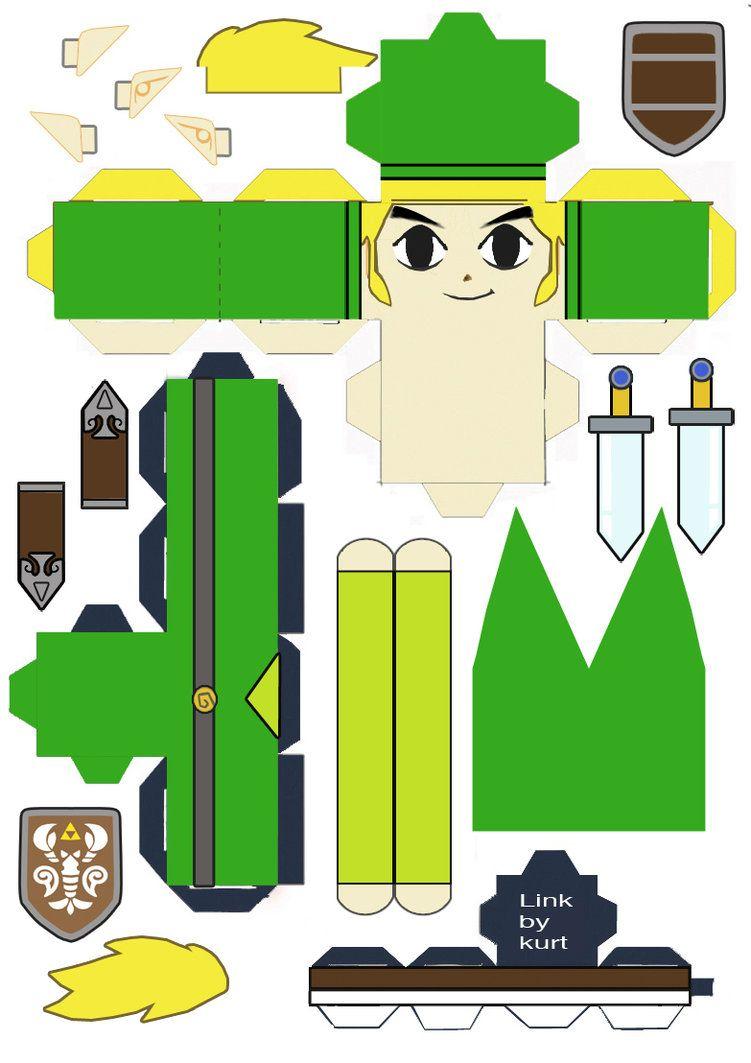 Legend Of Zelda Link Phantom Hourglass Cubeecraft By Scarykurt On