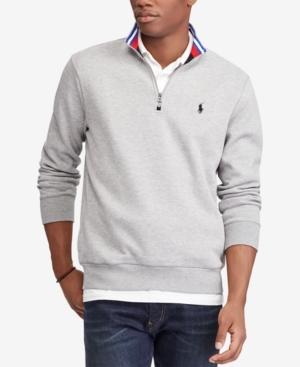 collared shirt under quarter zip