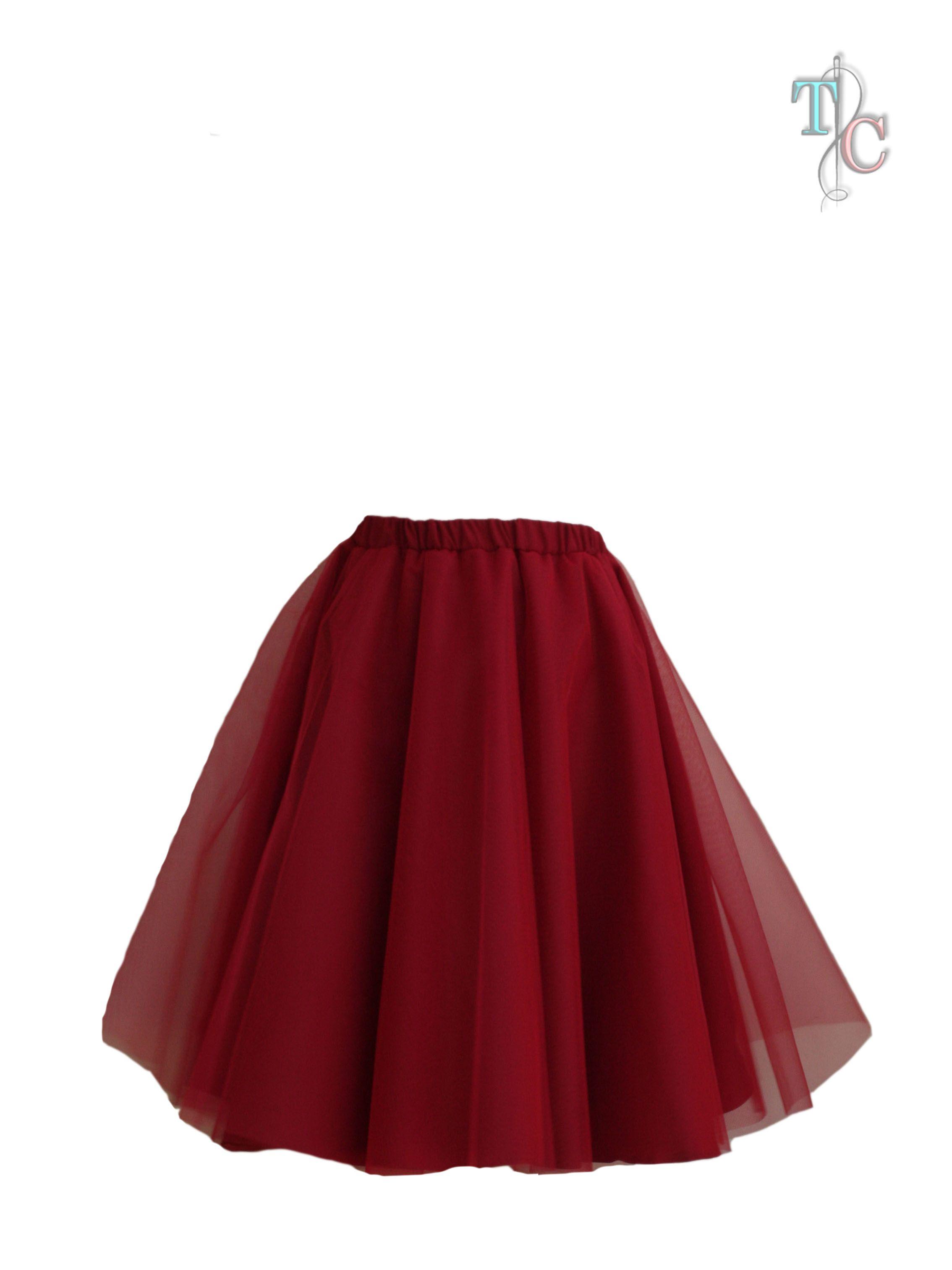 Falda de tull en color rojo 00ace801e624