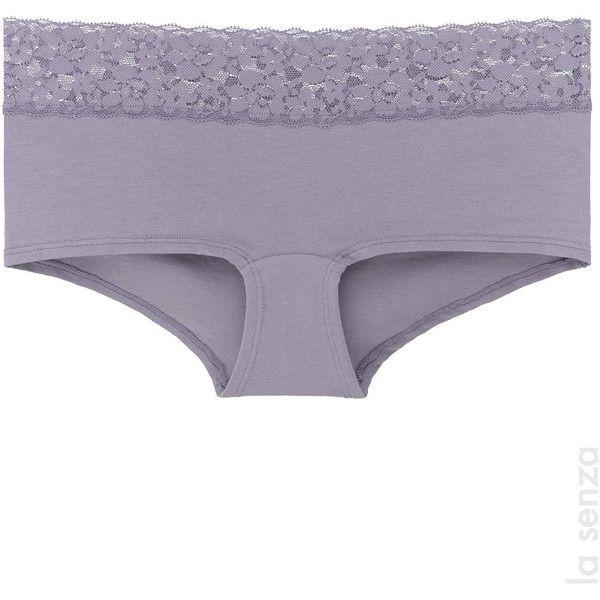 La Senza Boyshort Panty ($3.00) ❤ liked on Polyvore featuring intimates, panties, boy shorts lace panties, lace boy short panties, la senza panties, lace panty and lace boyshorts