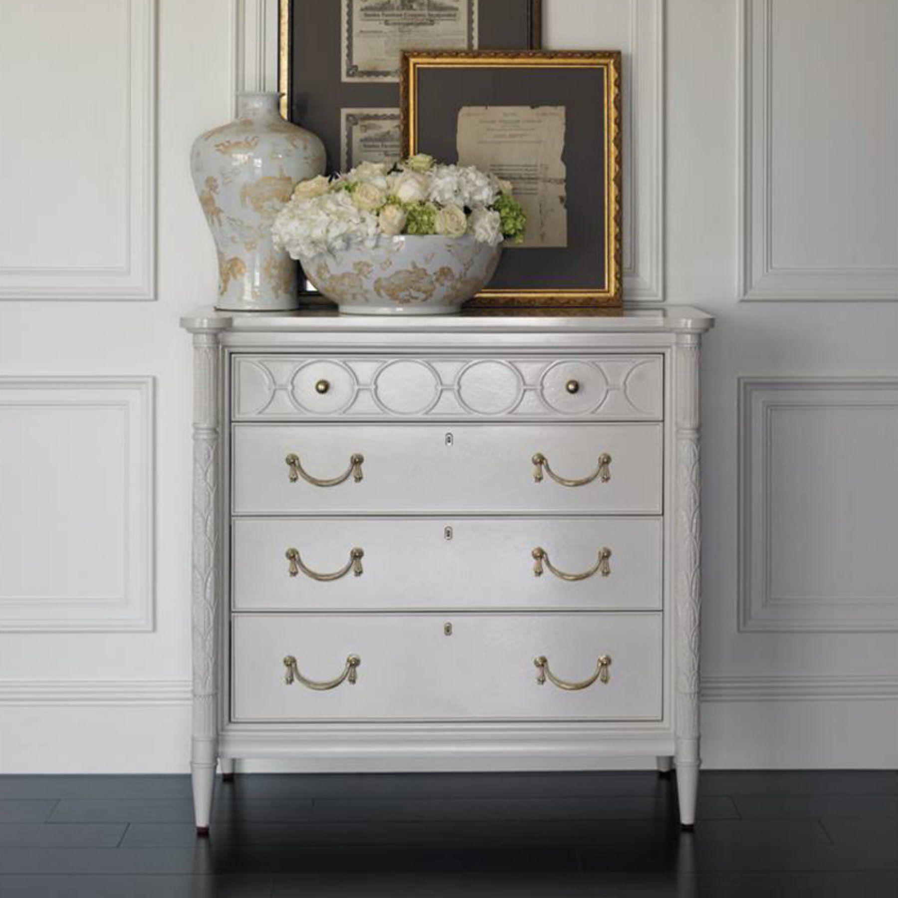 Stanley Furniture Charleston Regency King Charles 4 Drawer Bachelors Chest 302 23 17