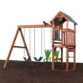 Swing N Slide Glenwood Residential Wood Playset With Swings Small Swing Sets Backyard Playset Swing Set Diy