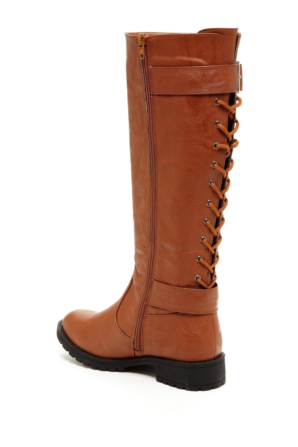 Lace Up Back Riding Boot On Hautelook Shoes Pinterest