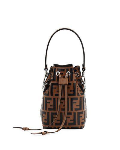 2f07b127aa FENDI MON TRESOR SMALL FF BUCKET BAG.  fendi  bags  shoulder bags  hand bags   leather  bucket