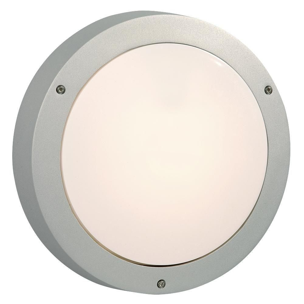 Hampton bay white outdoor oval bulkhead wall light silver walls
