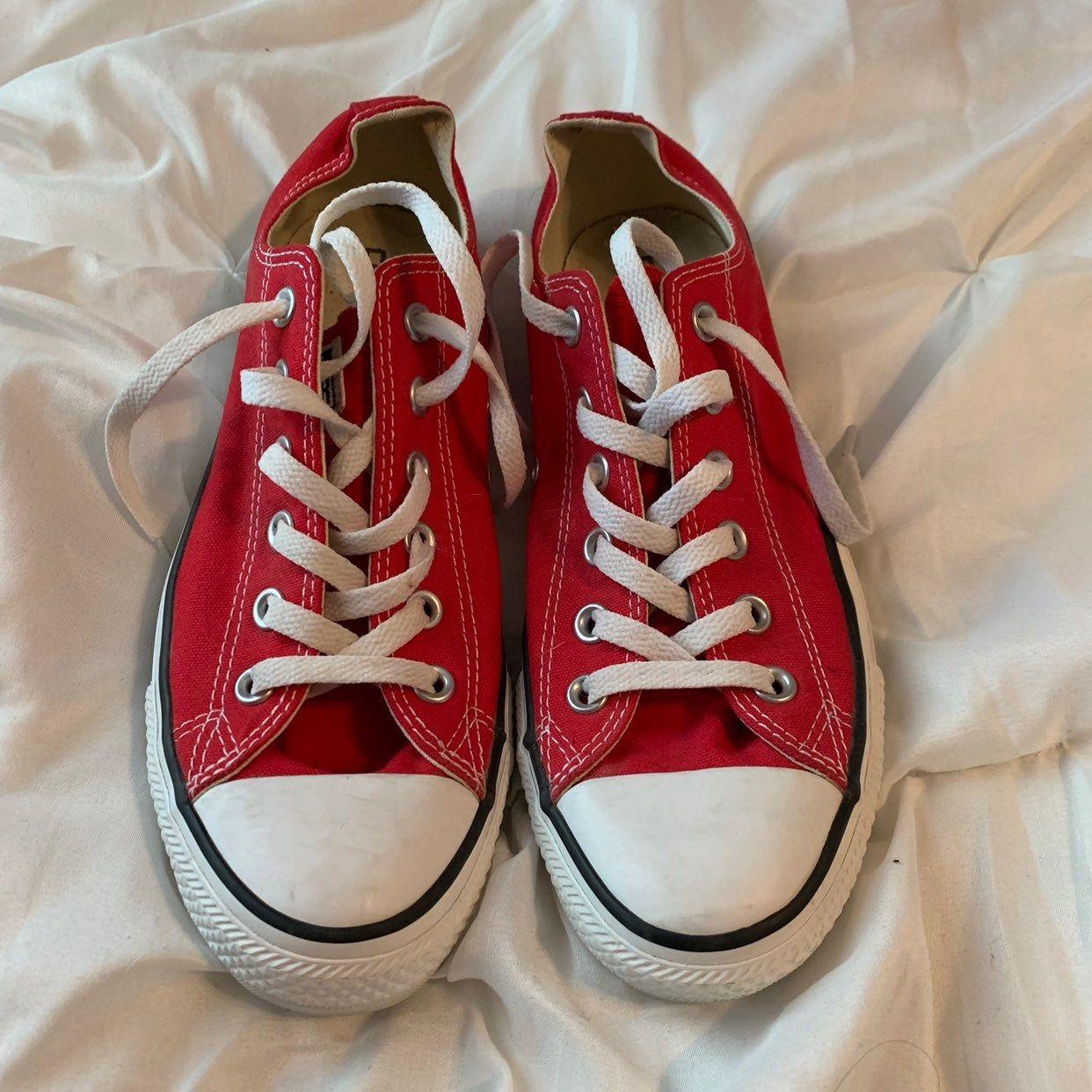 red #white #chucks #converse #size9