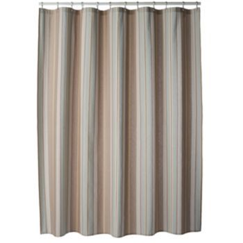 Sonoma Goods For Life Torrance Stripe Fabric Shower Curtain