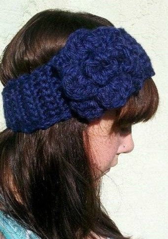 Crochet Ear Warmer Headband With Flower | Potential Crochet Etsy ...
