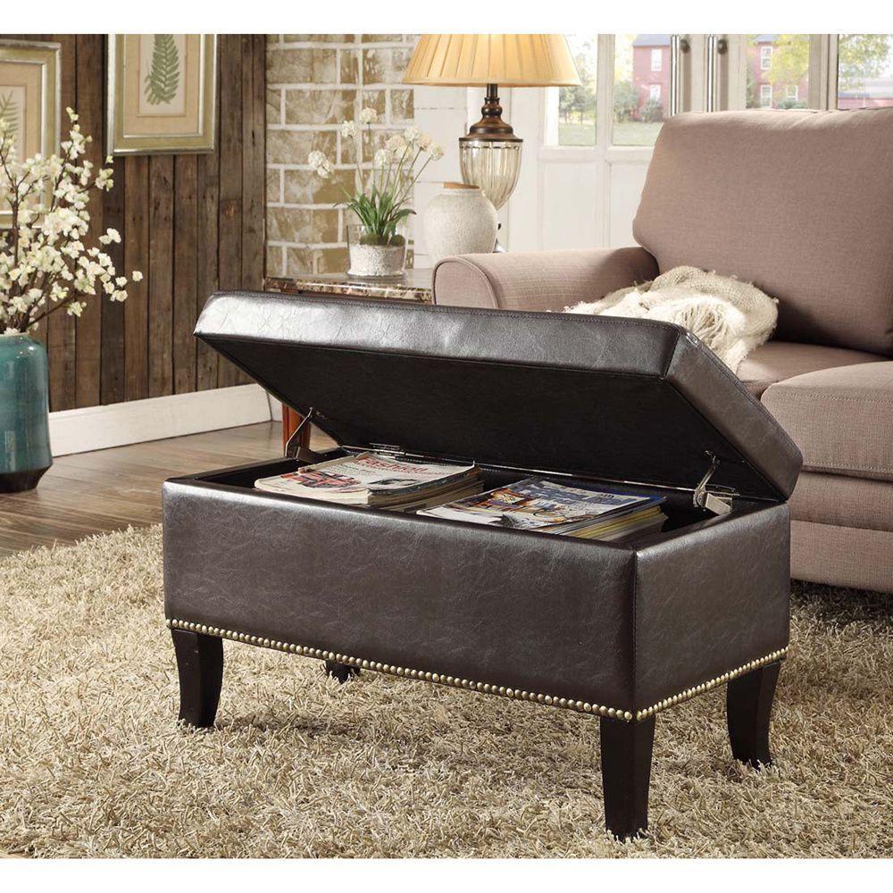 Awesome Convenience Concepts Designs4Comfort Winslow Storage Ottoman Customarchery Wood Chair Design Ideas Customarcherynet