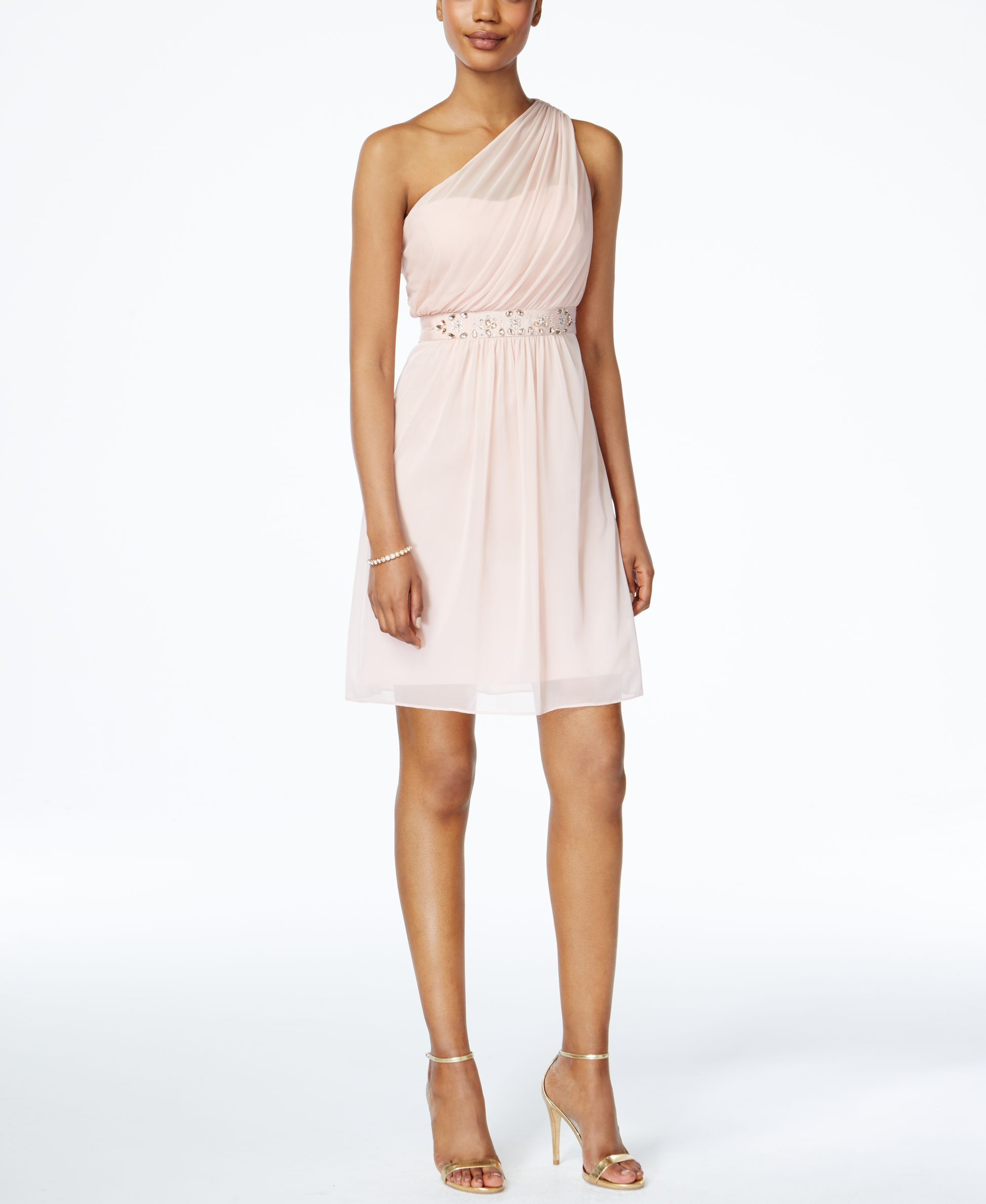 Adrianna papell oneshoulder embellished dress products