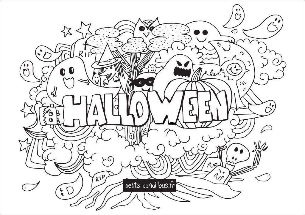 Coloriage Geant Halloween Halloween coloring pages
