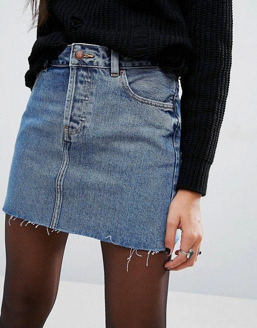 Délavé En Design Jean Jupe Bleu Mini Taille amp;jupe Basse Shorts 0qAAn1vw6