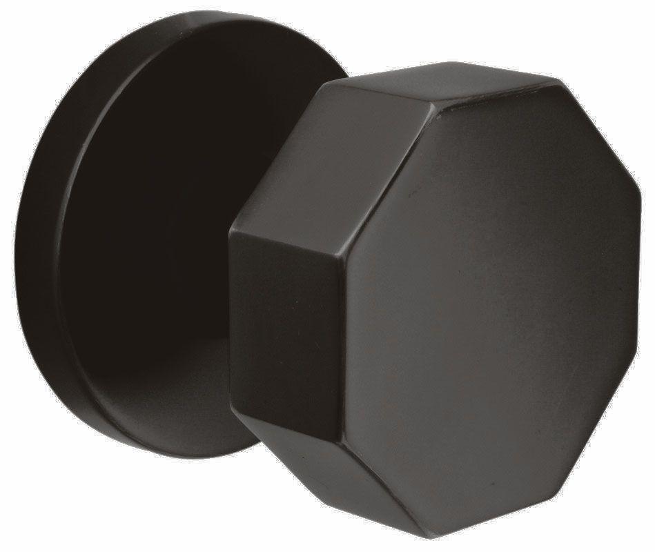 Emtek 505OCT Octagon Knob Brass Modern Dummy Knobset Flat Black Knobset Dummy Set
