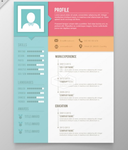 free design resume template - Free Artistic Resume Templates