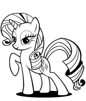 My Little Pony Coloring Pages Rarity Crafting My Little Pony
