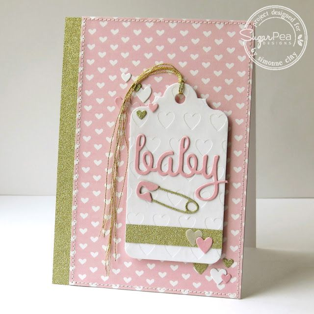Baby Girl Card With Gift Tag