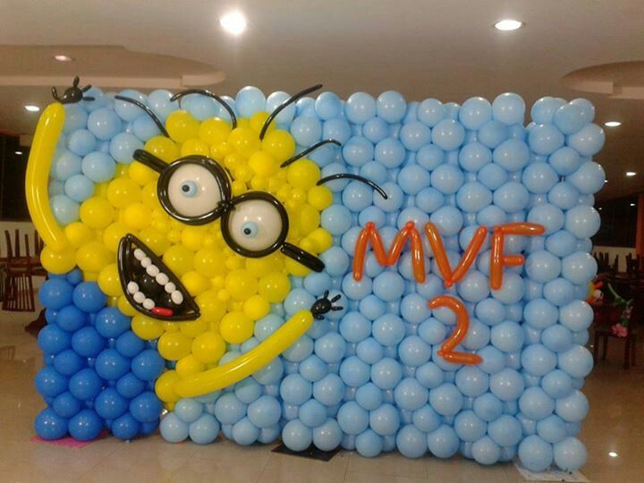 Minion Balloon Wall | Despicable Me | Pinterest | Minion balloons ...