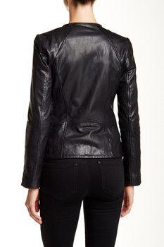 Soia & Kyo Asymmetrical Moto Leather Jacket