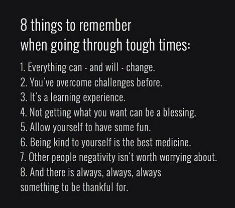 I've been through a lot of tough times, more than my fair ...