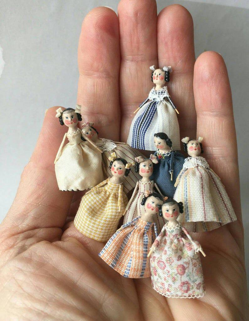 Mini Doll Peg 1:12 scale. 32-35 mm high approximate. #miniaturedolls