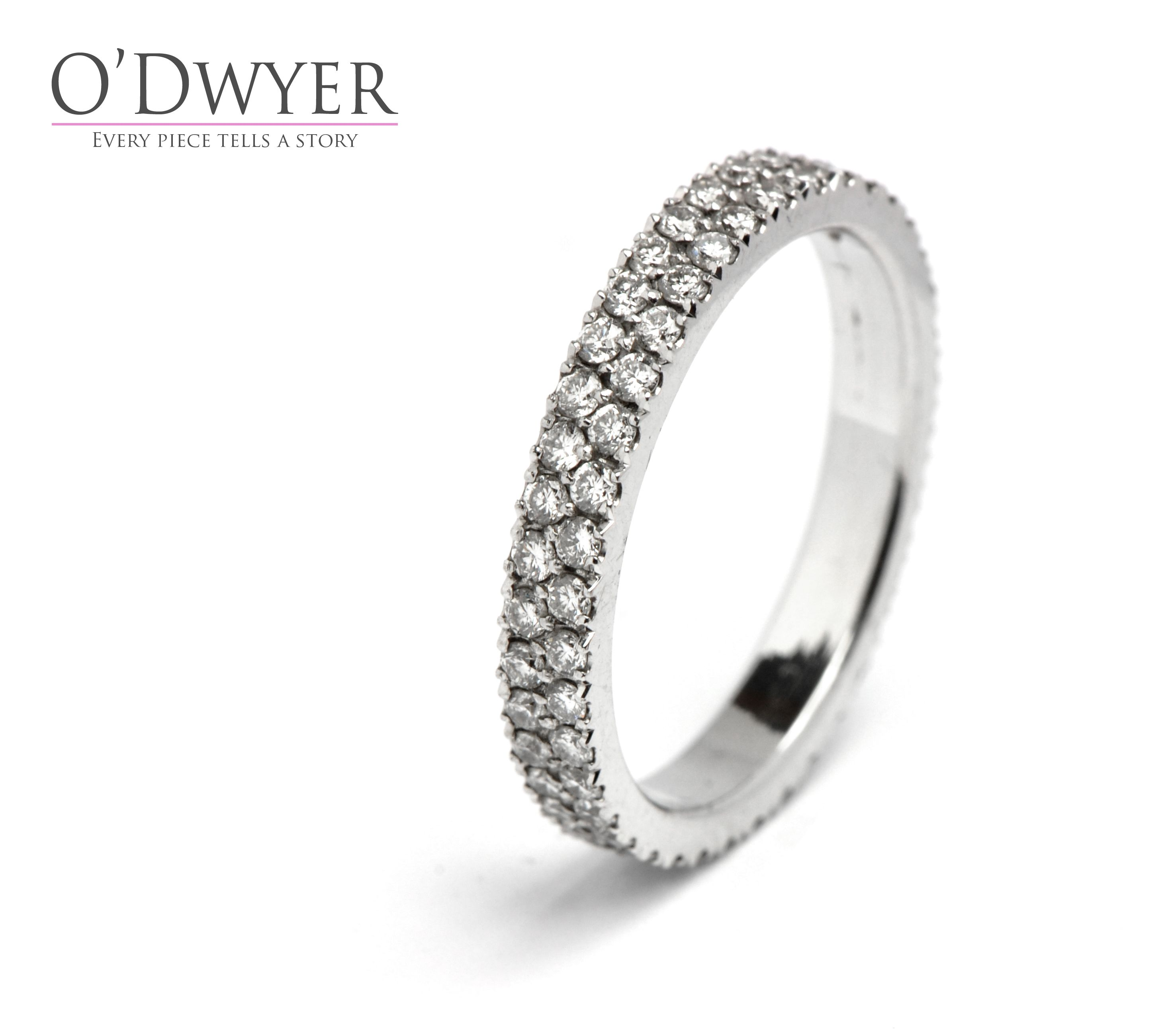 with rlovningsring diamond diamonds band ring double small row f white gold vigselring pin