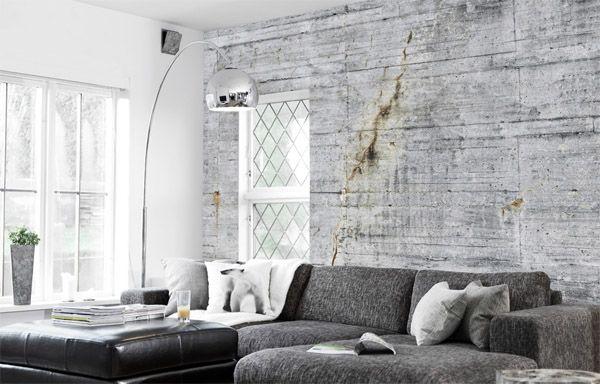 Concrete Looking Wallpapers Scandinavian Decor Living Room Concrete Wallpaper Living Room Scandinavian