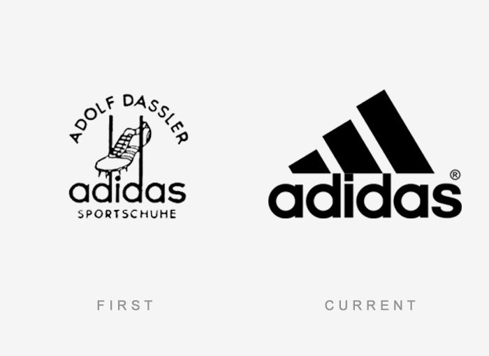 50 Famous Logos Then And Now | Famous logos, Old logo