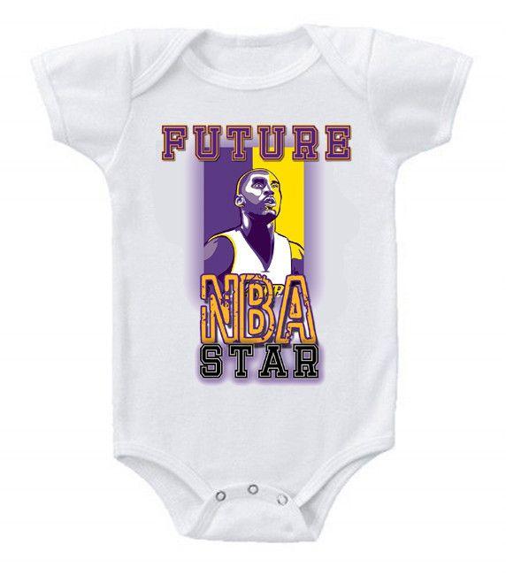 LA Lakers  NBA  BIBS+BABY BODYSUIT ONESIE ONE PIECE CLOTHING