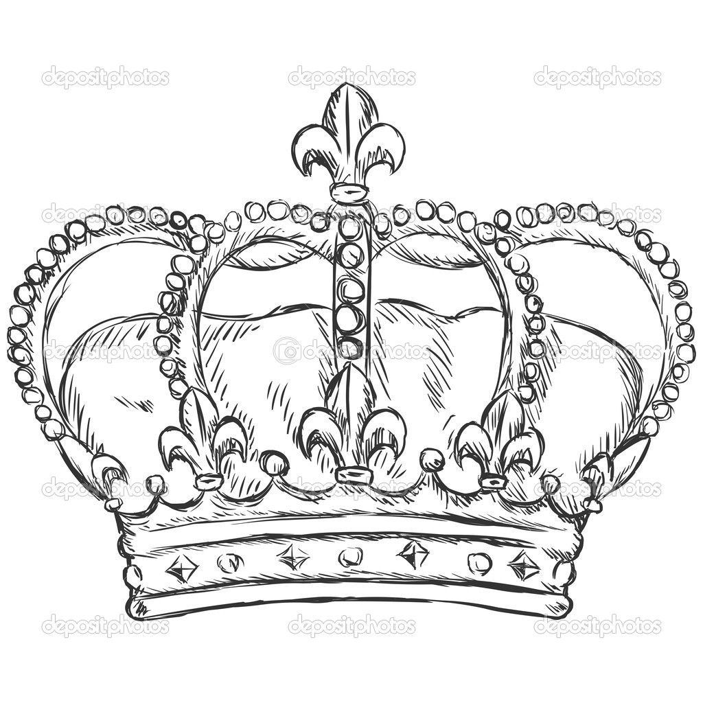 Queen Crown Sketch Best 25+ King crown dr...