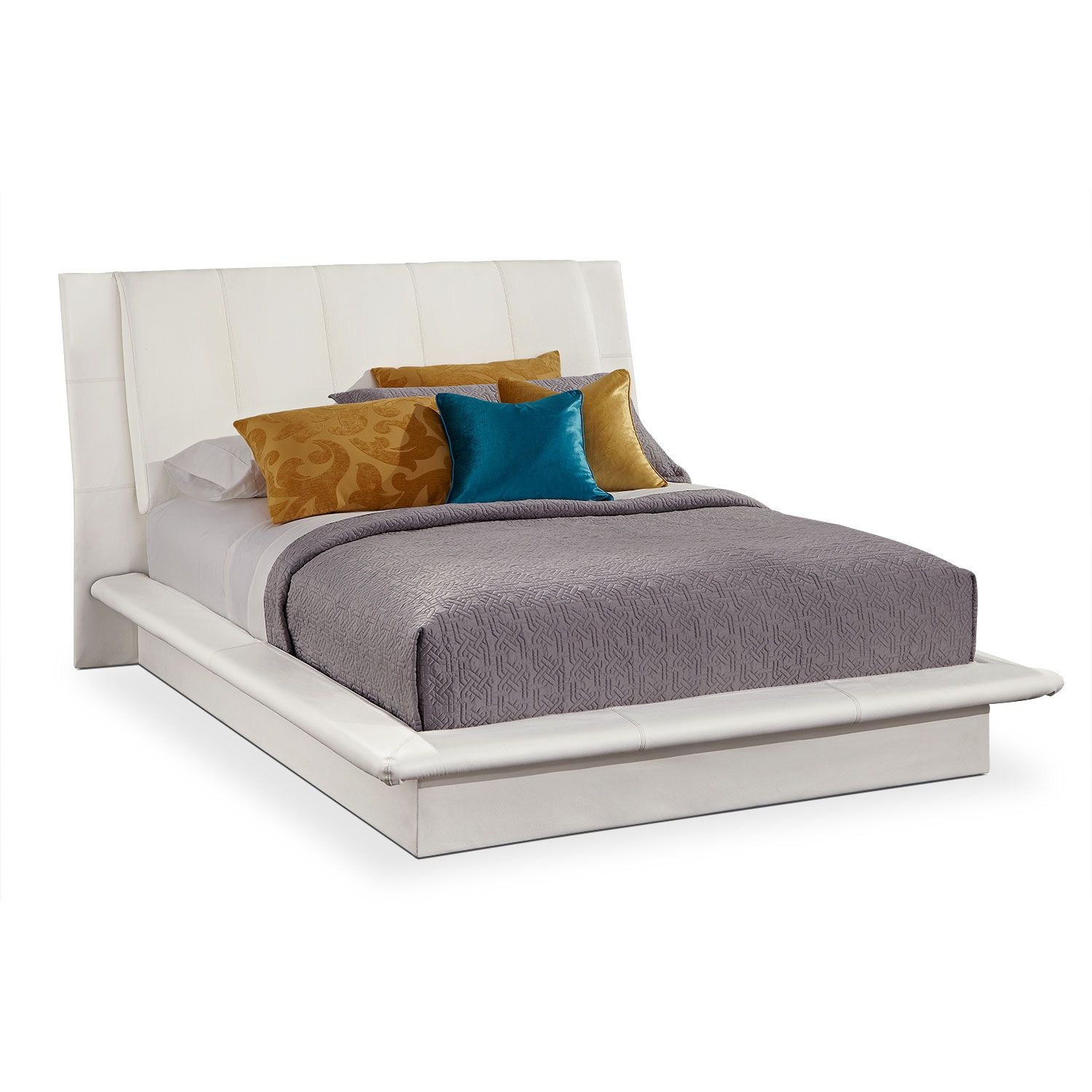 Dimora Queen Upholstered Bed White