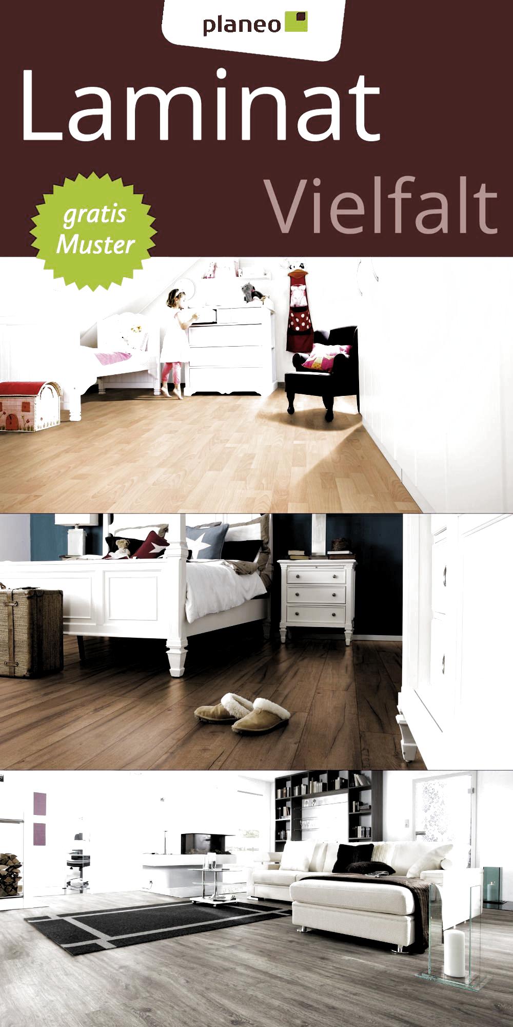 Laminat Laminatboden - Viele Ideen für deinen Boden, wähle zwischen Holzoptik, Fliesenoptik u.v.m. - Es lässt sich ganz einfach selbst verlegen - Wir bieten diesen Bodenbelag in verschiedenen Stärken, Optiken, Nutzungsklassen, Verlegeoptiken und Farben - Ob für das Wohnzimmer, Schlafzimmer, Kinderzimmer oder ein anderes Zimmer, hier findest du deinen Wunschboden - Finde jetzt deinen Favoriten und bestelle dir bis zu 7 kostenlose Muster!  #laminat #laminatboden #boden #renovieren #wohnung #wohnen