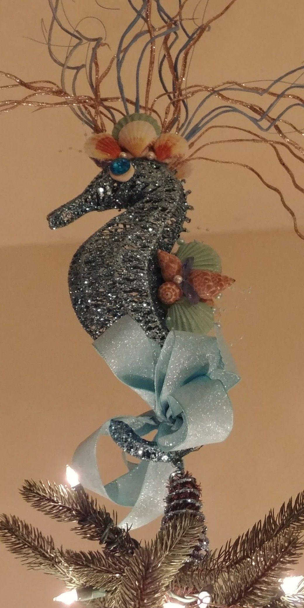 Seahorse Tree Topper Natal Decoracao Natalina E Decoracao
