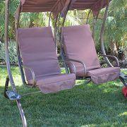 Bellezza© Outdoor Patio Swing Set 2 Person Armrest Steel ...