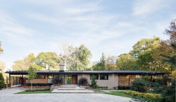 This modern ranch home is the perfect example of a beautiful midcentury renovation