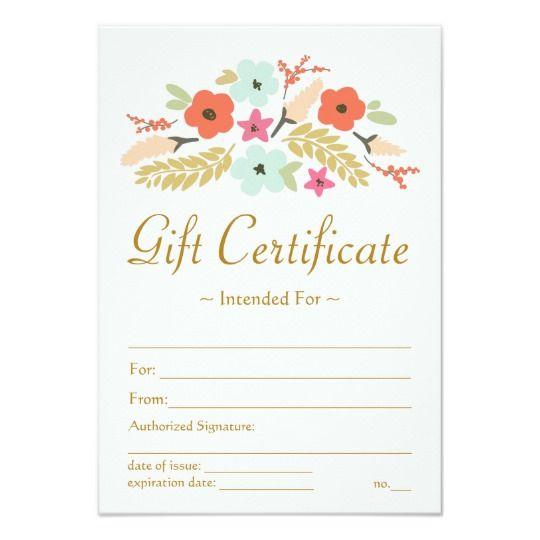 Honeymoon Vouchers As Wedding Gifts: Flower Bouquet Gift Certificate