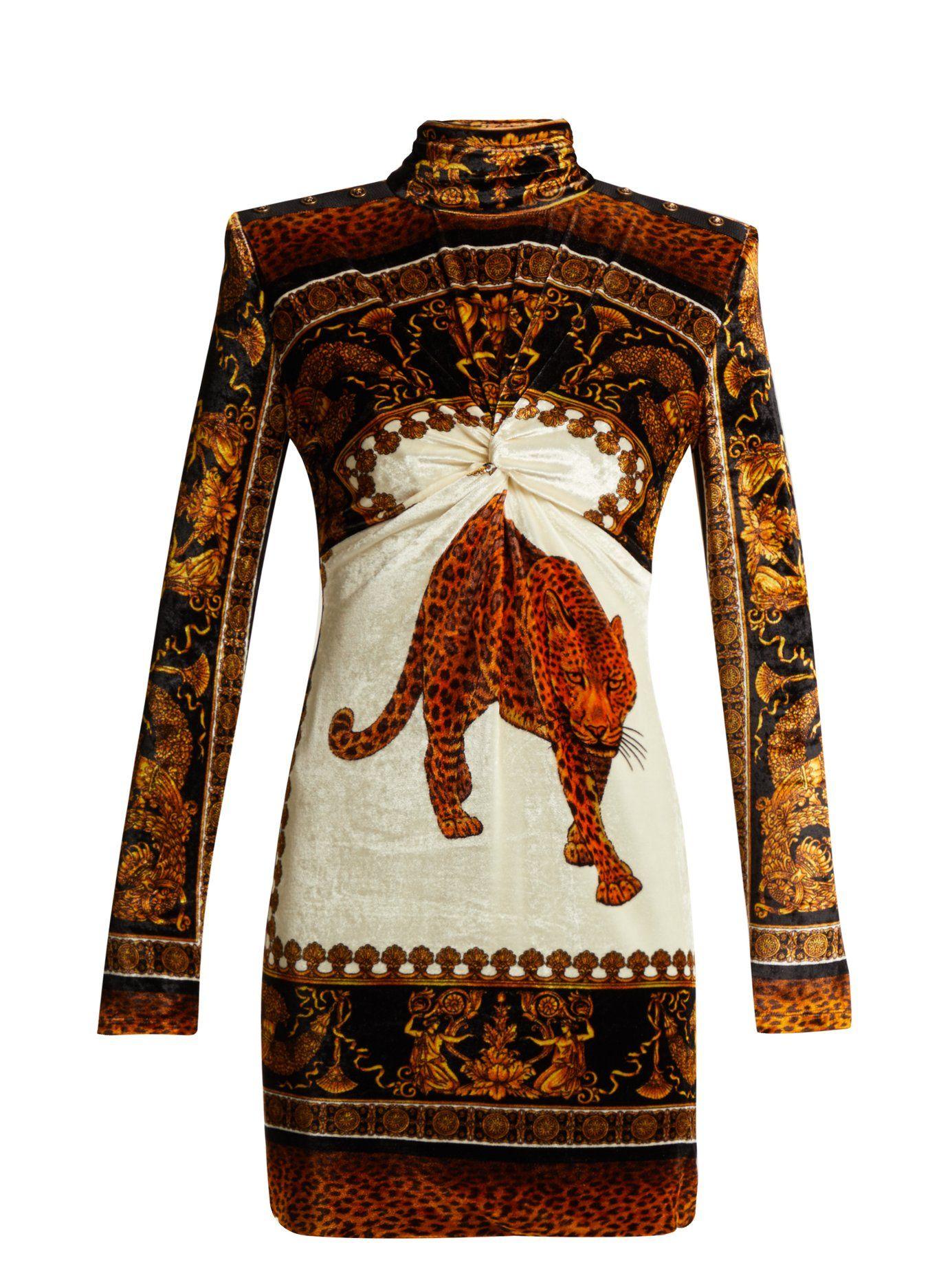 6b95b730b173 Leopard-print velvet mini dress | Versace | MATCHESFASHION.COM US ...