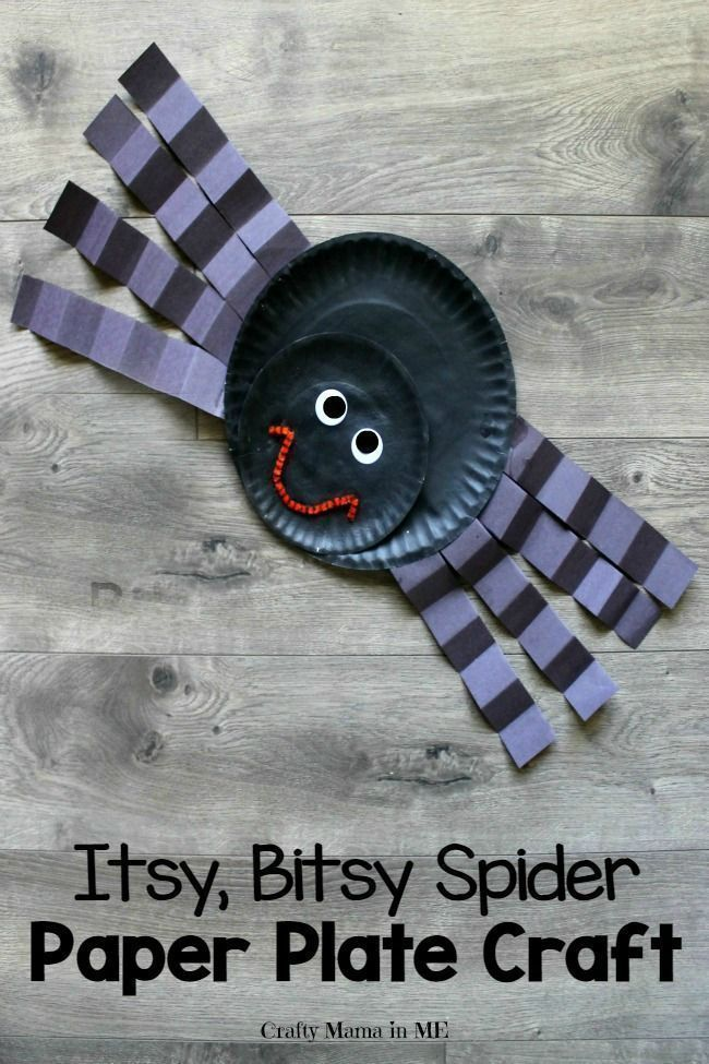 Itsy Bitsy Spider Paper Plate Craft for Kids - Crafty Mama in ME!