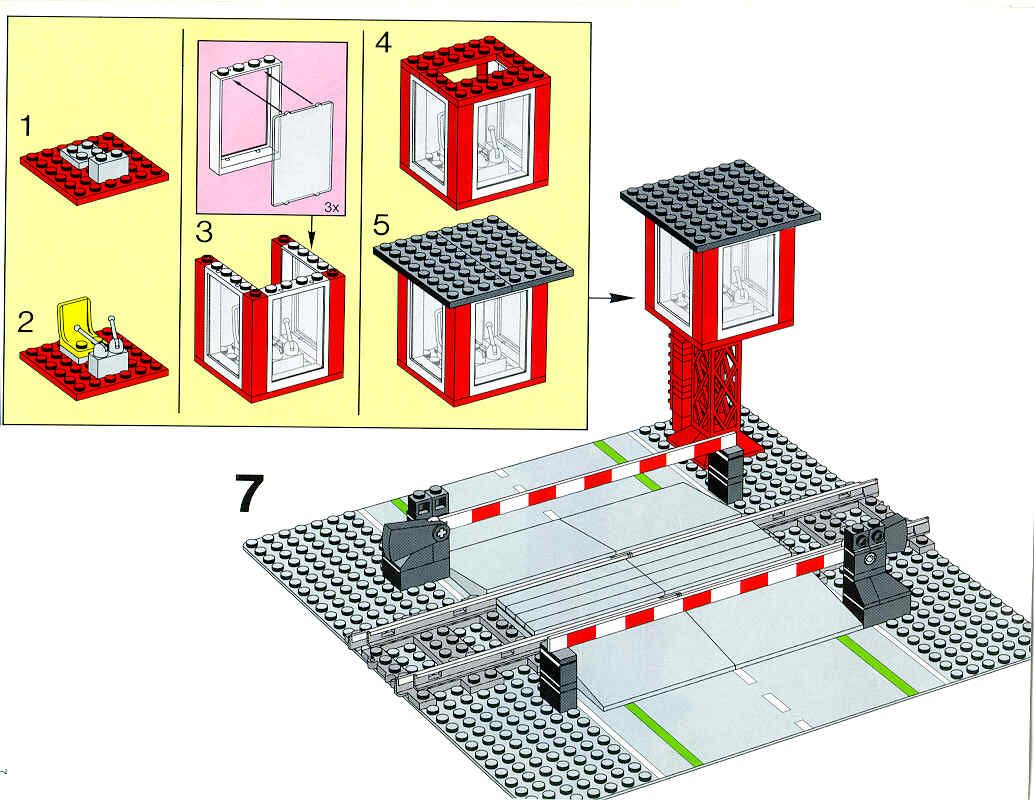 how to make a lego train crossing
