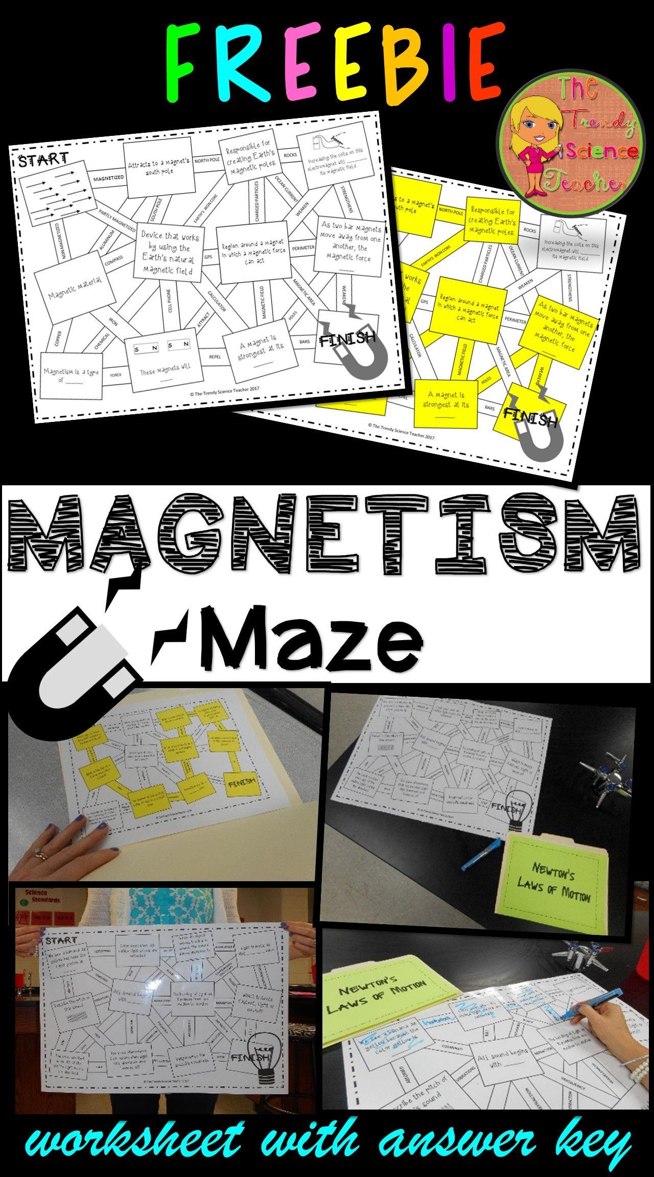 Magnetism Maze Worksheet Free