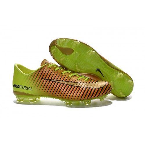 promo code ca2d7 4cd71 Nike Mercurial Vapor XI FG - Gull Volt Svart Fotballsko For Menn