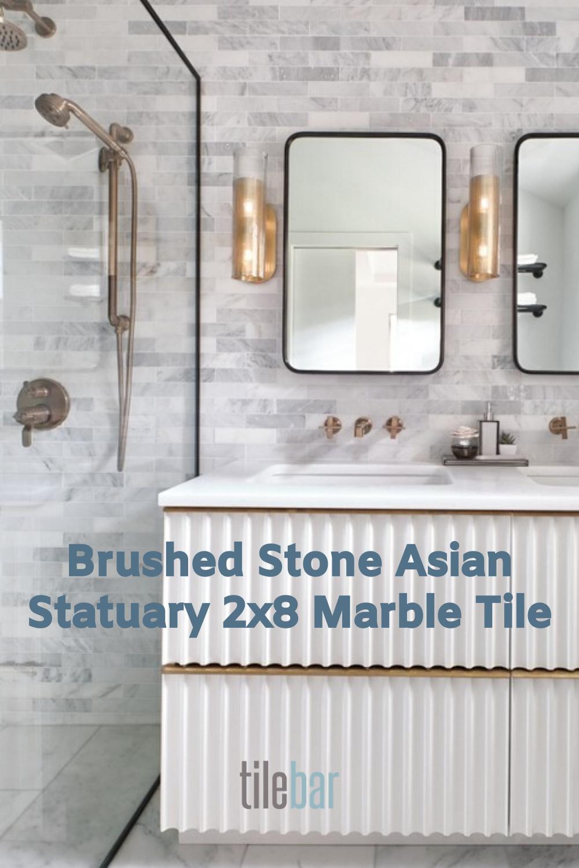 brushed stone asian statuary 2x8 marble