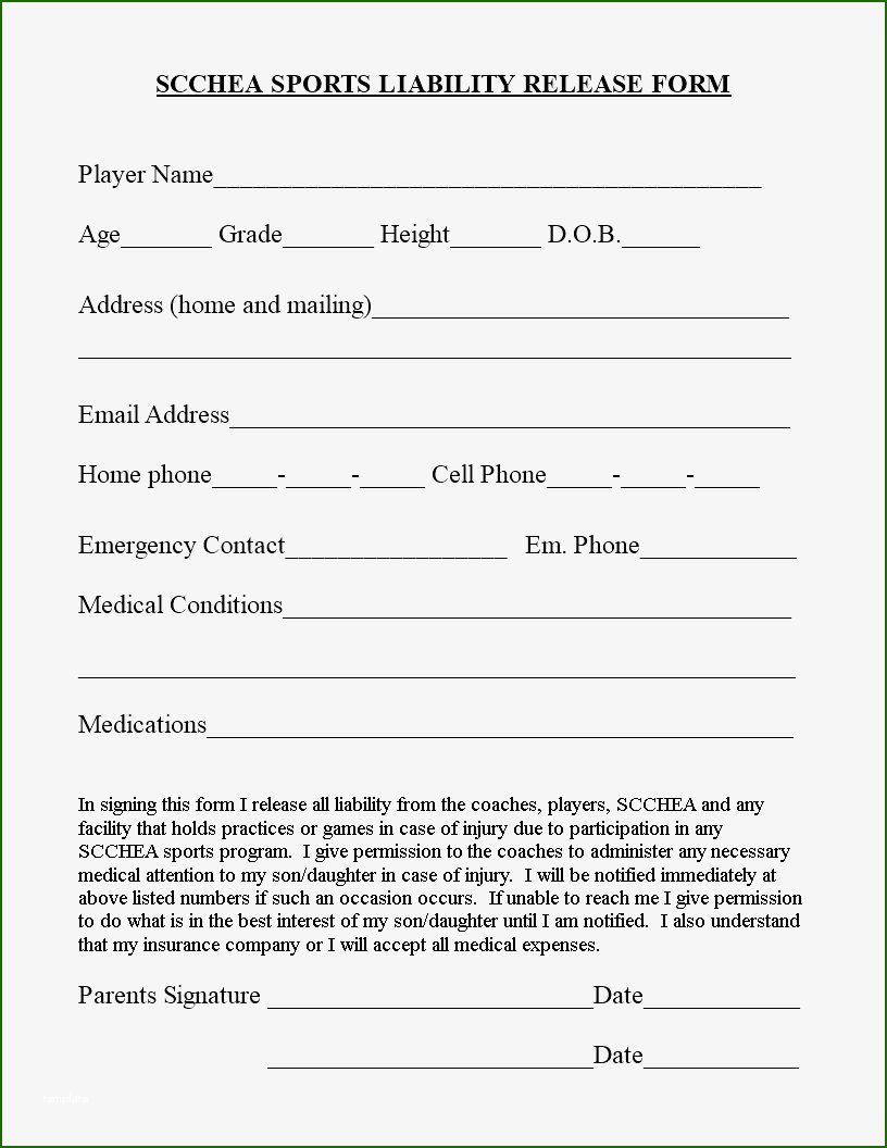 Superb Waiver Form Template For Sports That Will Wow You Printable Job Applications Small Business Plan Template Word Template