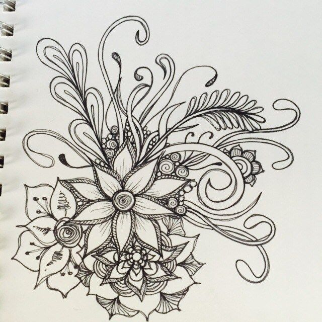 Inspired by the below artwork by ashleyinzer on flicker these floral doodles are just quickie doodles during TV time with my husband.. Or while he plays xbox and I just sit beside.. No desire to b…
