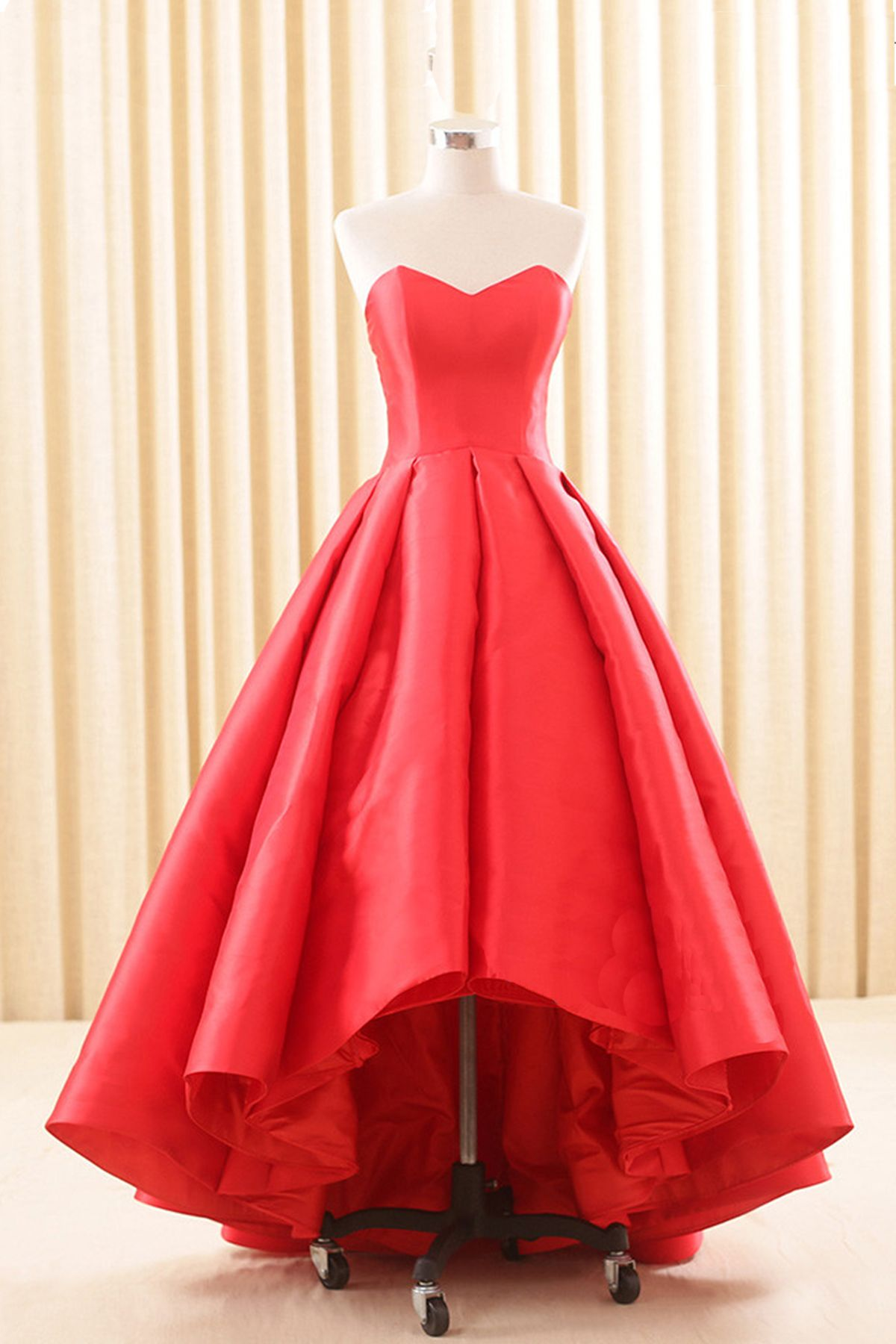 to wear - Dresses prom high low red video