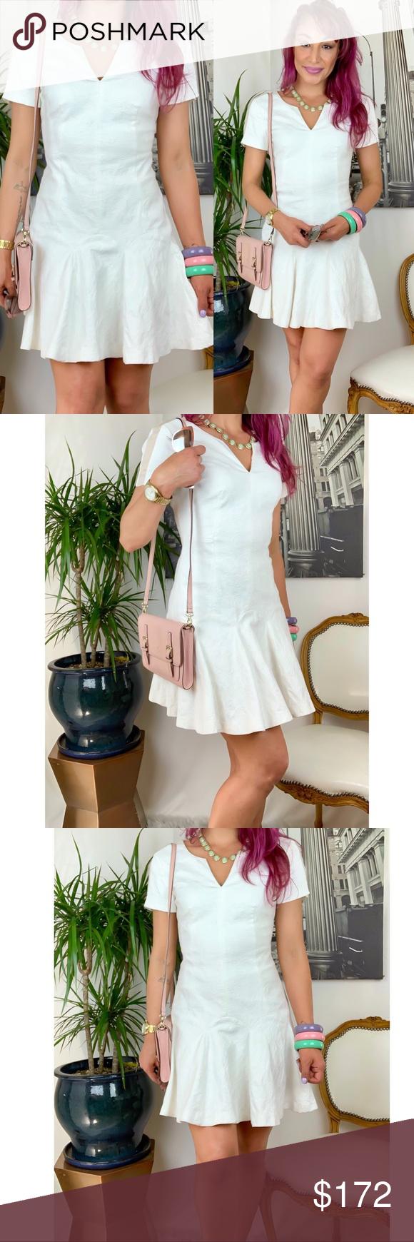 Rebecca Taylor Textured White Tulip Dress Little White Dresses Dresses Tulip Dress [ 1740 x 580 Pixel ]