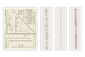 Tim Holtz Sizzix PATTERN & STITCHES Texture Fades Embossing Folders 657198* at Simon Says STAMP!