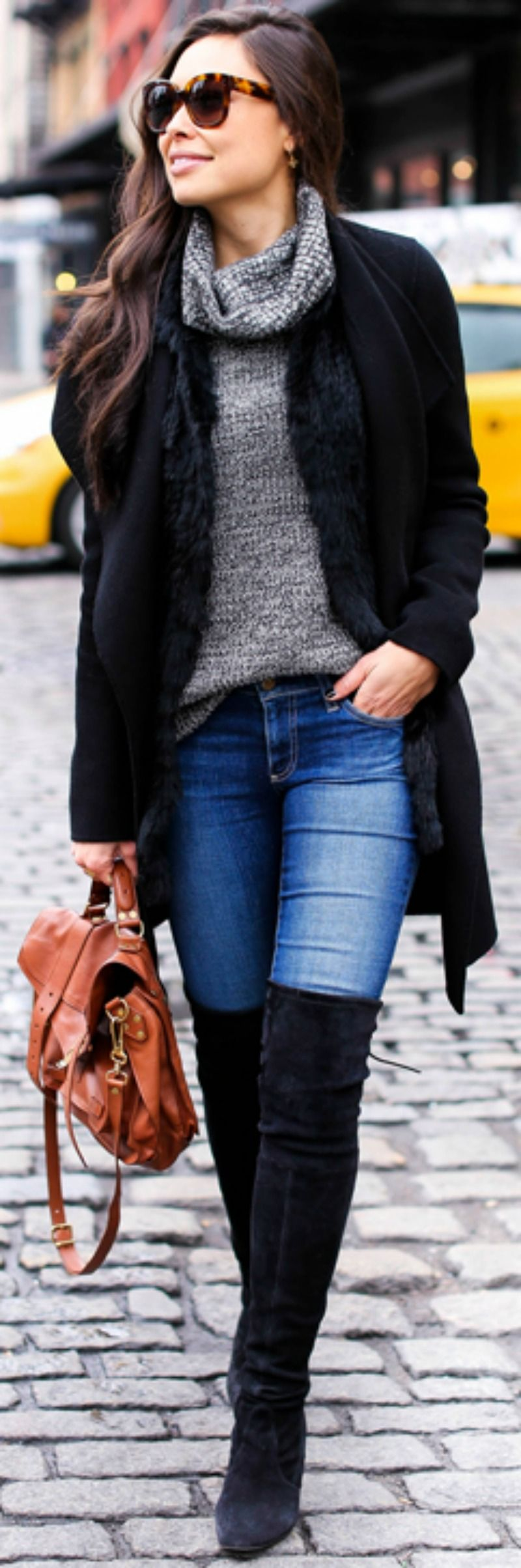 thigh boots knee outfit wear jeans outfits denim winter boot fall shoes length coat ways cute casual sweater joe latest