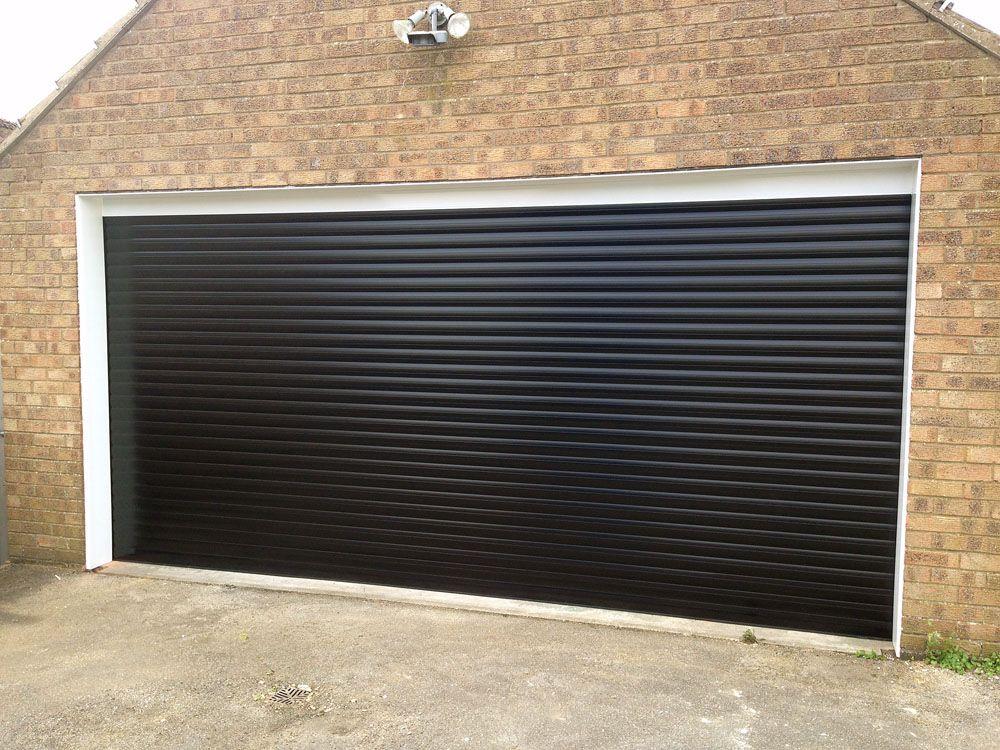 Black Roller Garage Door Installed In Hull By Swan Gates Garage